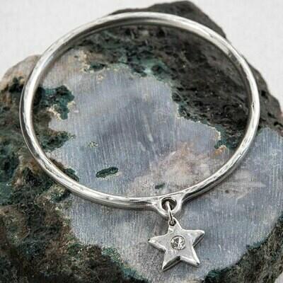 Danon Star Shine Crystal Bangle