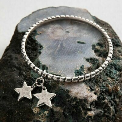 Danon Star Shine Double Charm Bangle