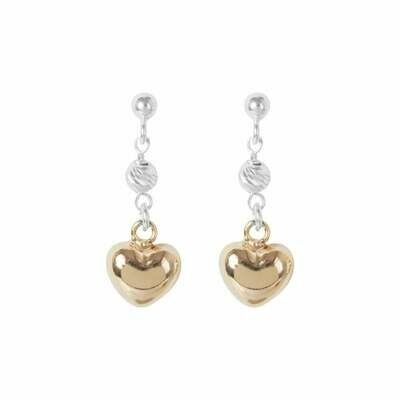 Virtue Exquisite Heart Bead Drop Earrings