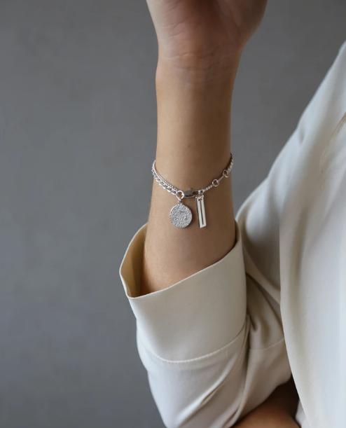 Tutti & Co Surface Bracelet Silver