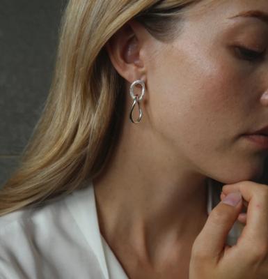 Tutti & Co Fusion Earrings Silver