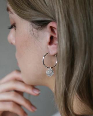 Tutti & Co Island Earrings Silver