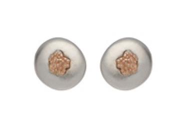 Unique & Co. Silver and Rose Gold Studs