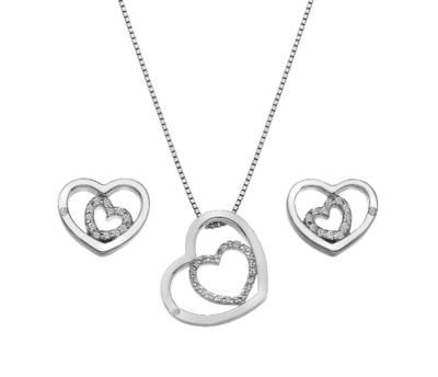 Hot Diamonds Enchanting Pendant and Earring Set