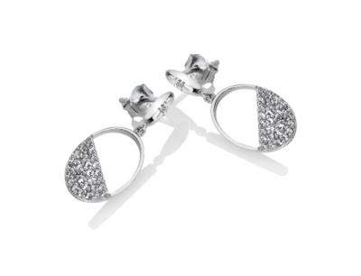 Hot Diamonds Horizon White Topaz Oval Earrings
