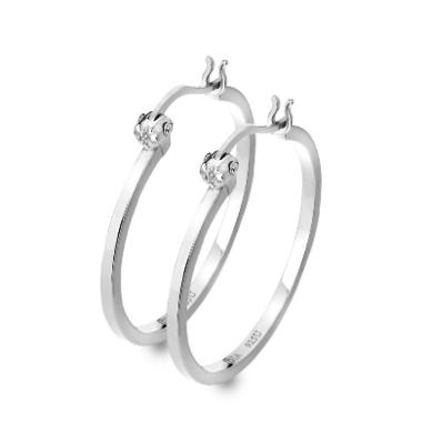 Hot Diamonds Hoop Earrings
