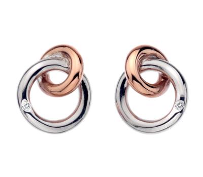 Hot Diamonds Eternal Earrings - Rose Gold Plate