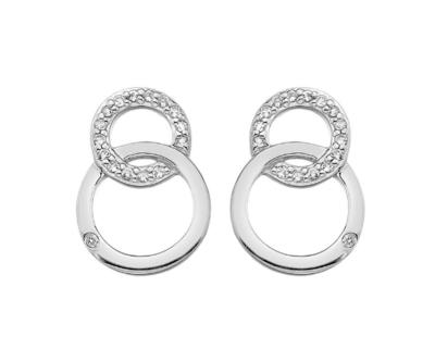 Hot Diamonds Striking Interlocking Earrings