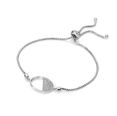 Hot Diamonds Horizon White Topaz Oval Bracelet