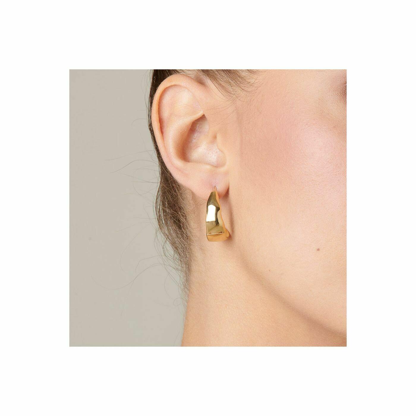UNOde50 Braided Earrings Gold