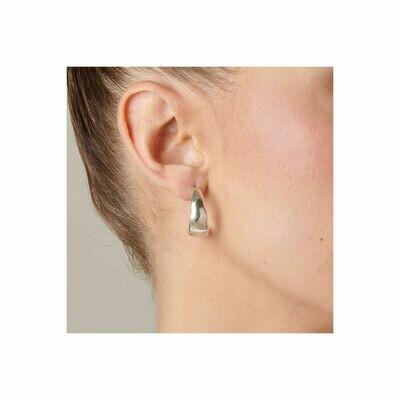 UNOde50 Braided Earrings Silver