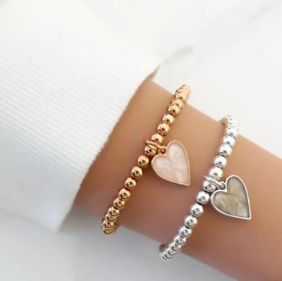 Orli Marble Heart Beads Bracelet