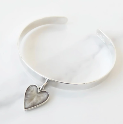 Orli Expandable Marble Heart Bangle