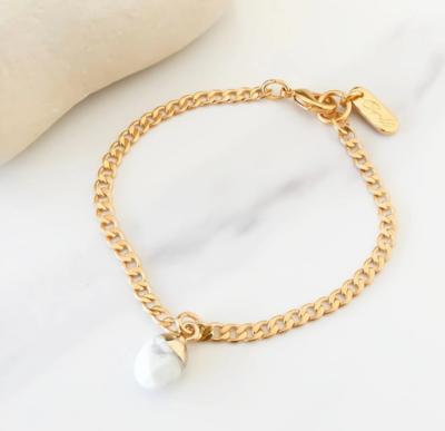 Orli Gold Bracelet with Howlite Stone Charm