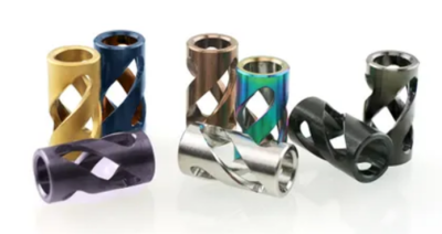 Bailey of Sheffield | Stainless Steel Candy Twist Bead