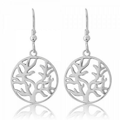 Trink Circle Tree of Life Earrings