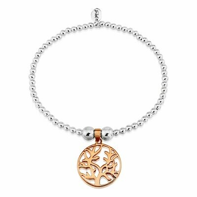 Trink Circle Tree of Life 9ct Rose Gold-Plated Bracelet