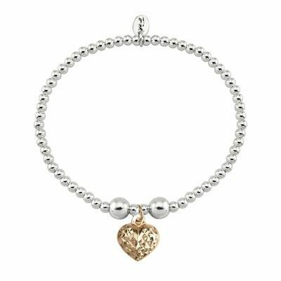 Trink Love Heart 9ct Rose Gold-Plated Bracelet