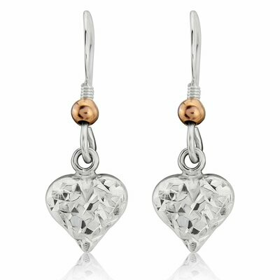 Trink Love Heart 9ct Rose Gold-Plated Earrings