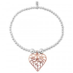 Trink Circle Gold Filigree Heart Bracelet