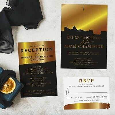 Black and Gold Foil Glamour
