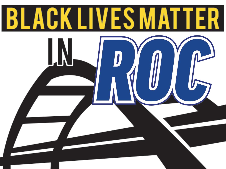 Black Lives Matter in ROC lawn sign