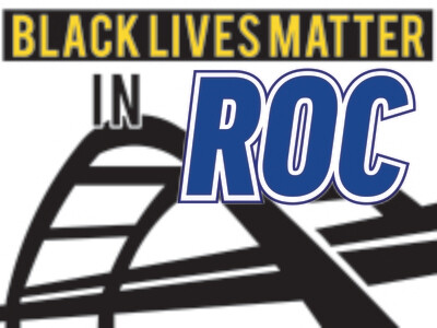 Black Lives Matter in ROC lawn sign