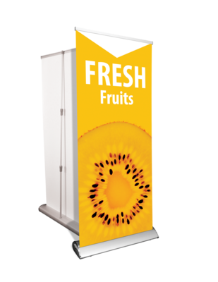 Retractable Banner and Stand (deluxe base shown)