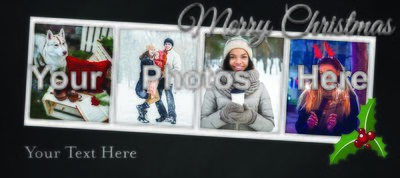 Merry Christmas 4 picture card
