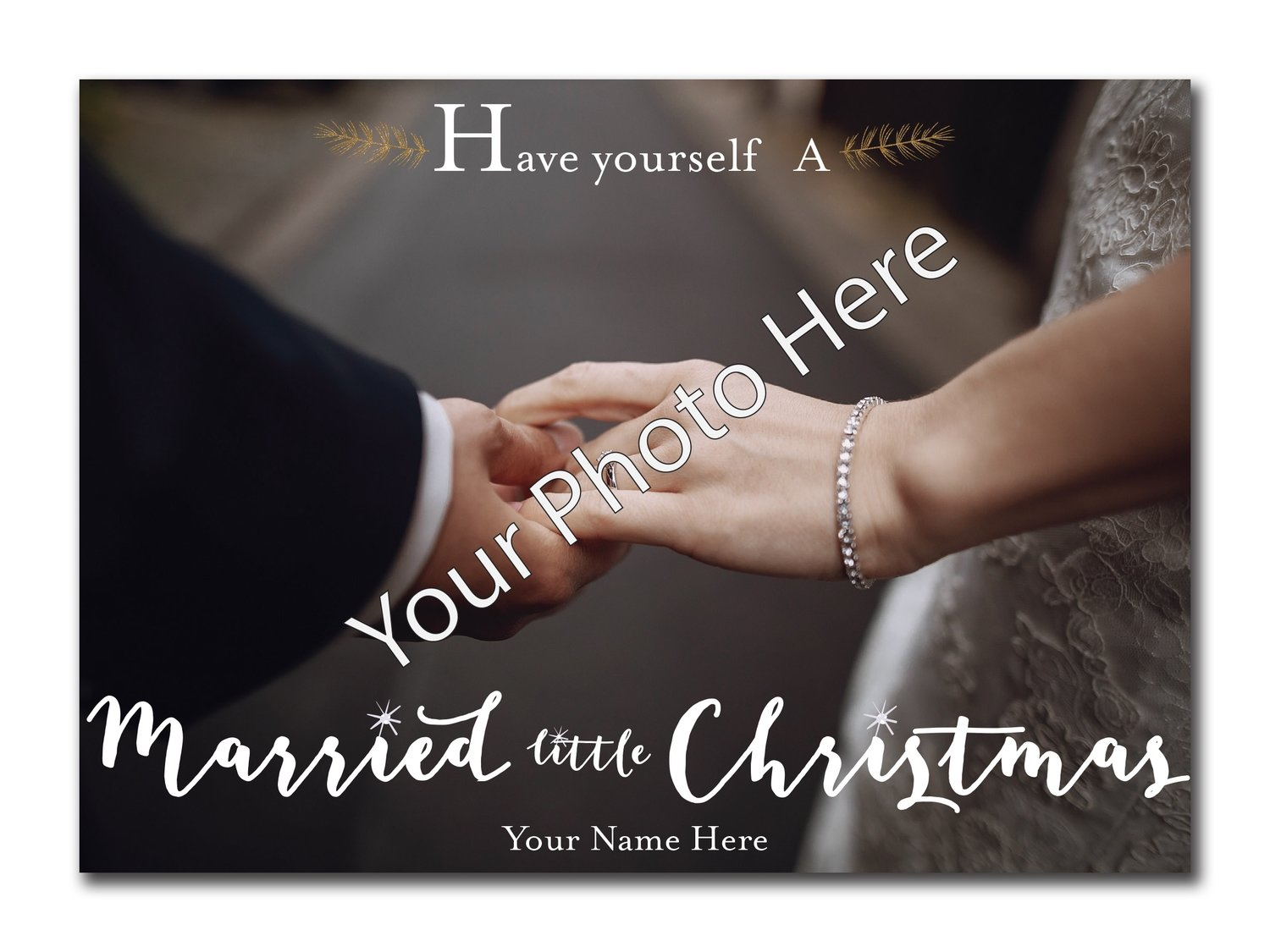 Married Little Christimas 5x7