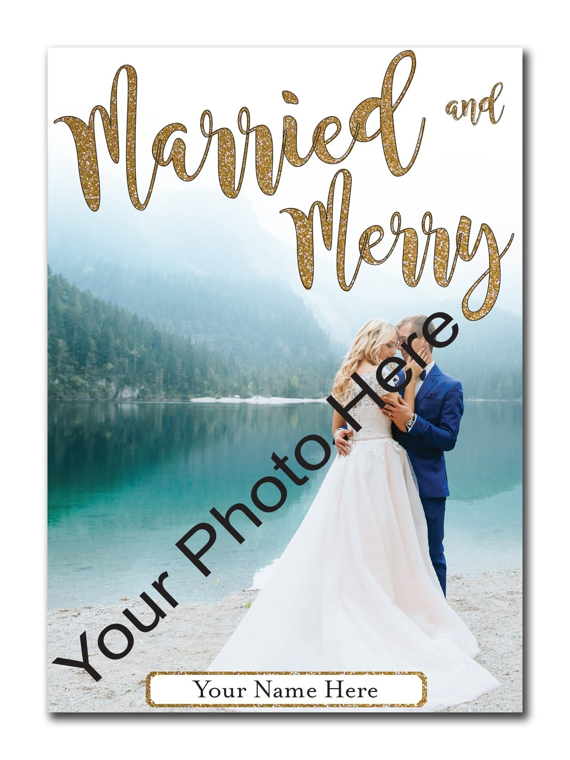 Married and Merry 5x7