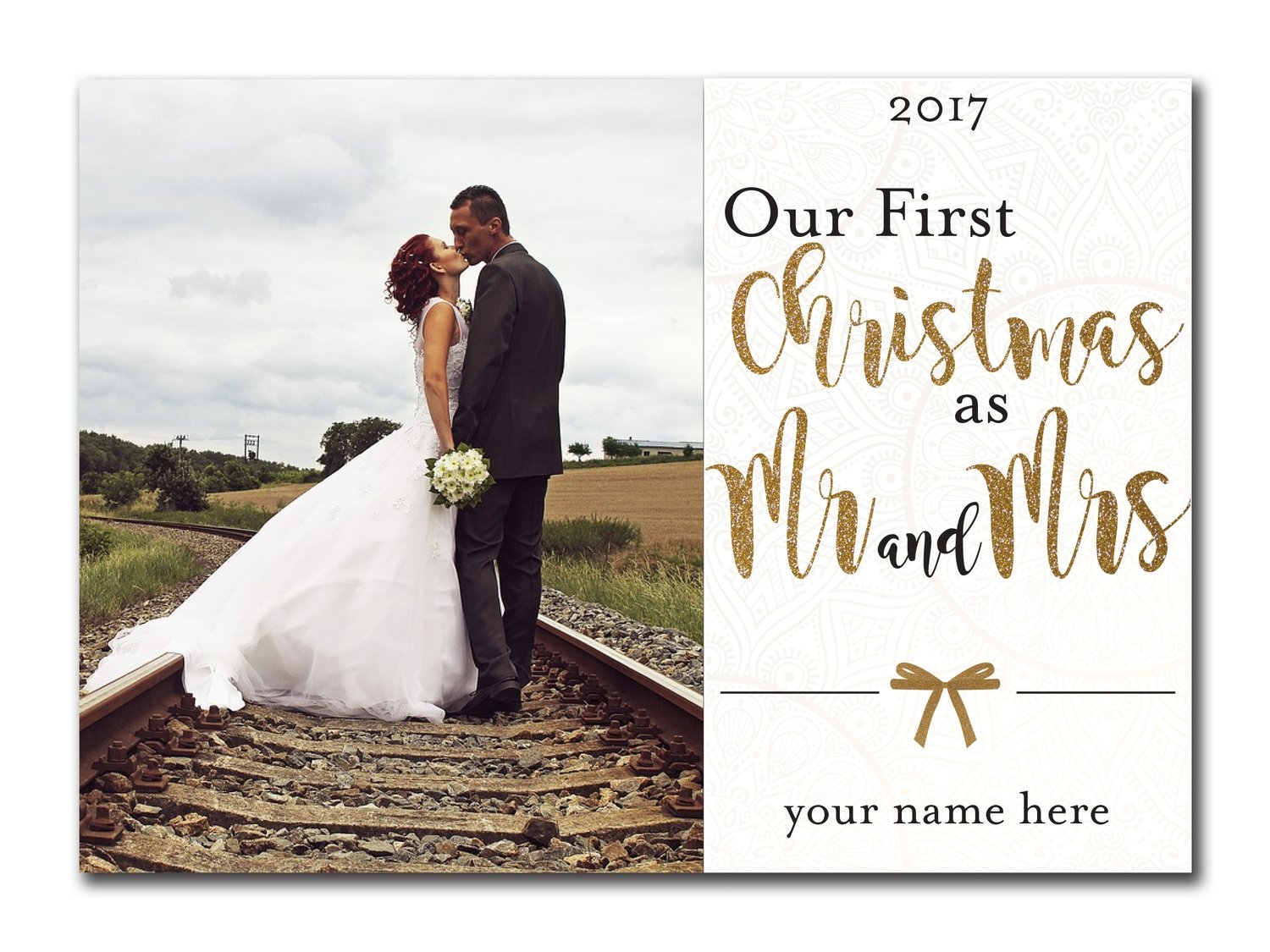 Our First Christmas as Mr. and Mrs. 5x7