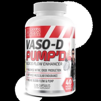 Max's Vaso-D Pump'd Stim Free Pre Workout