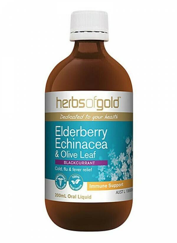 Herbs of Gold Elderberry Echinacea Liquid