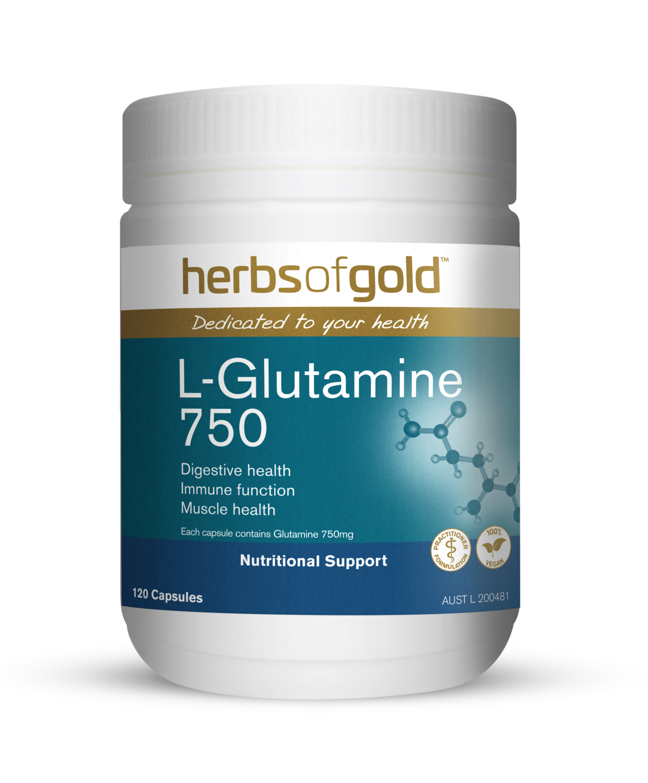 Herbs of Gold L-Glutamine 750 Capsules