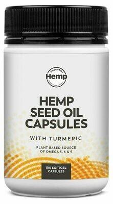 Essential Hemp Hemp Seed Oil with Turmeric Capsules