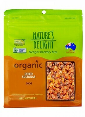 Nature's Delight Organic Dried Sultanas