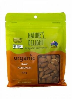 Nature's Delight Organic Raw Almonds