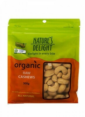 Nature's Delight Organic Raw Cashews