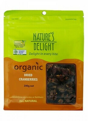 Nature's Delight Organic Dried Cranberries