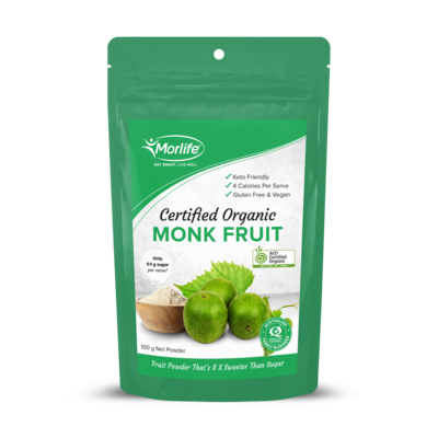 Morlife Certified Organic Monk Fruit Powder