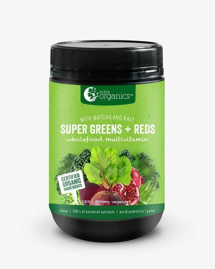 Nutra Organics Super Greens & Reds Capsules