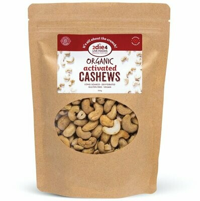 2Die4 Organic Activated Cashews