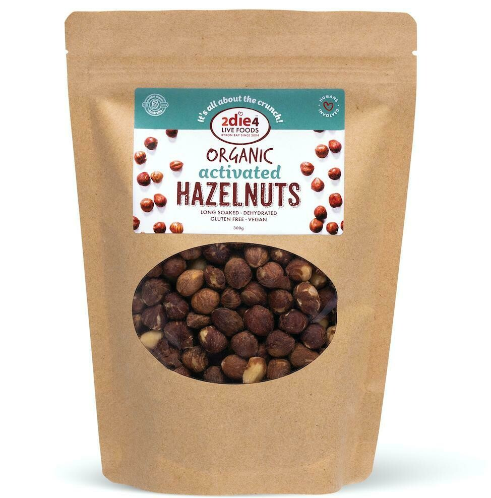 2Die4 Organic Activated Hazelnuts