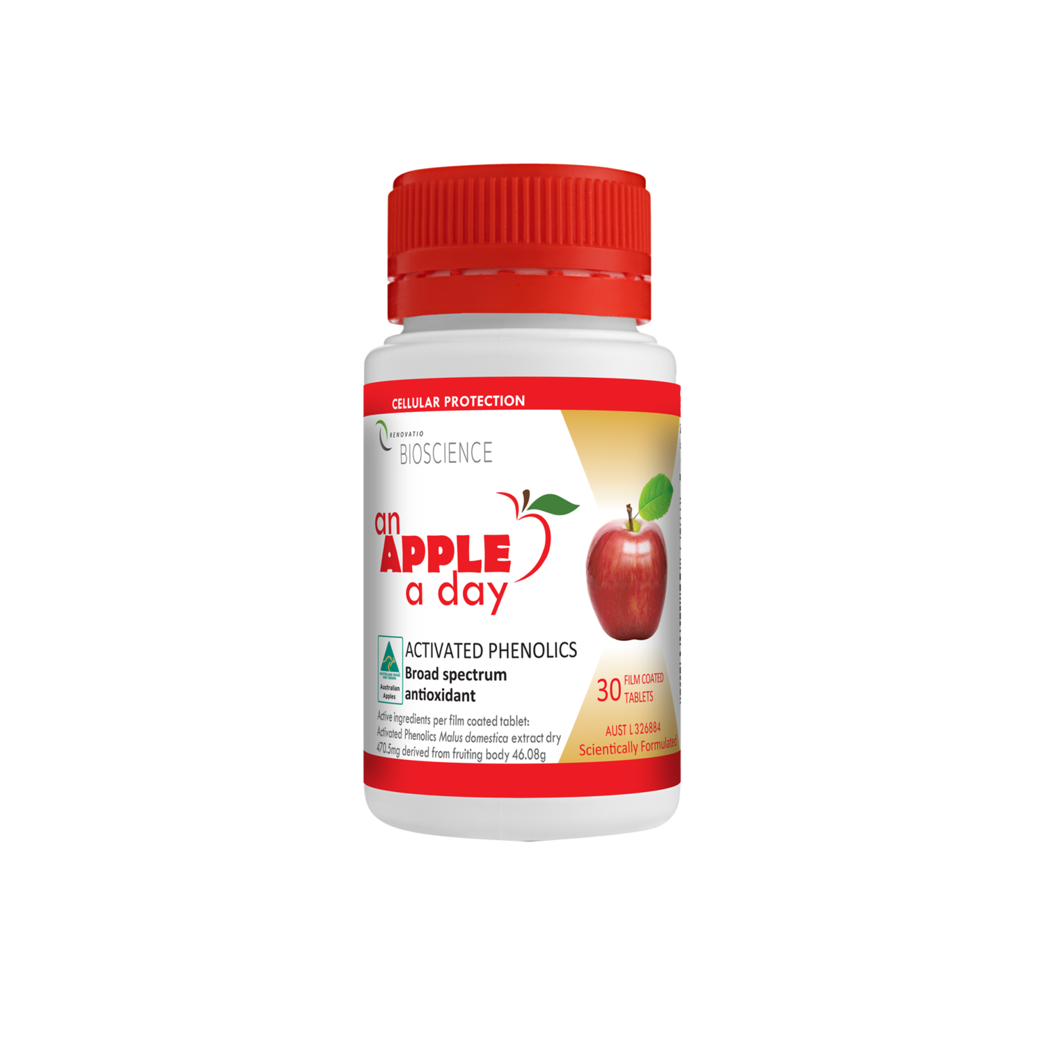 Renovatio An Apple A Day Activated Phenolics Tablets