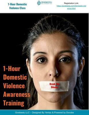 1-Hour CE Domestic Violence Awareness Class