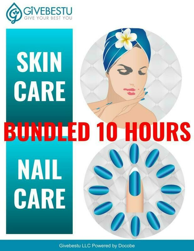 Bundle 10-Hours CE Skin & Nail  Advanced Self Care and Acrylic Removal Salon Safety