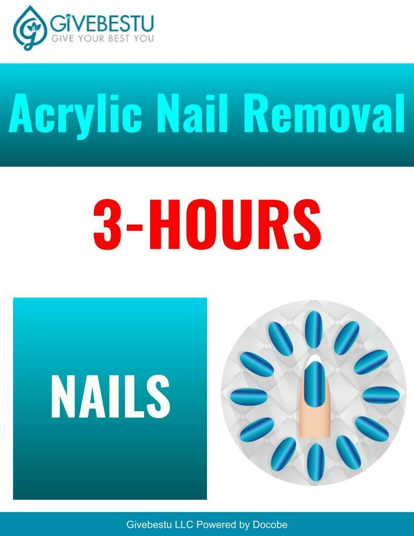 Nail Acrylic Removal 3-Hours CE Class