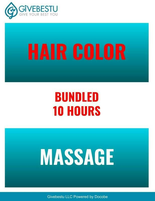 Bundle 10-Hours CE Hair Color & Massage Class