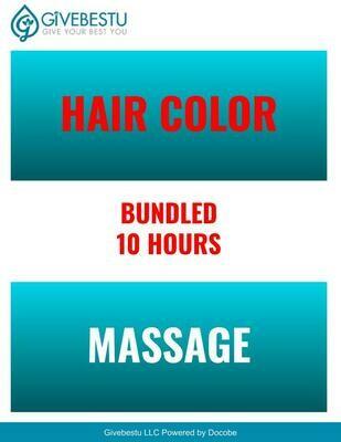 Bundle 10-Hours CE Hair Color & Massage Class
